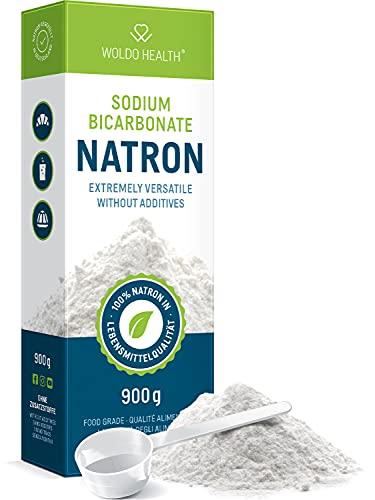 WoldoHealth Soda di Carbonato qualità Alimentare - 900g Polvere purezza Oltre 99,9%