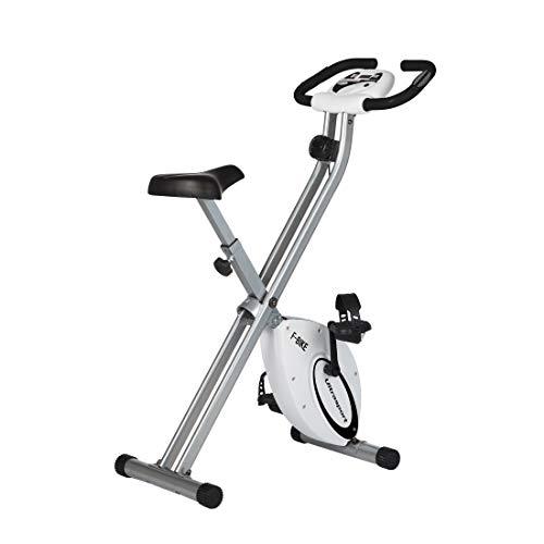 Ultrasport Unisex F-Bike Bicicletta di Esercizi, Peso Massimo 100 kg, Display LCD, Livelli di Resistenza Regolabili, con Sensori di Pulsazioni, Trainer per Atleti e Anziani Unisex Adulto, Grigio