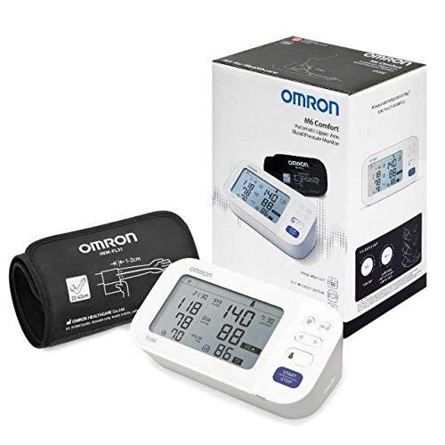 OMRON - Misuratore di Pressione da Braccio, M6 Comfort, Hem-7360-E, Bracciale Intelliwrap 22-42 Cm, Tecnologia Intellisense, Clinicamente Validato, Afib, Battito, Batterie, Custo, Multicolore, Adulti