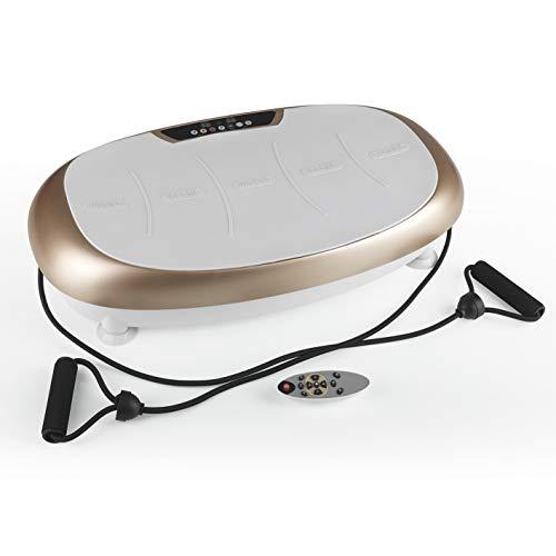 VITALmaxx Vibration Trainer | Allenamento di Tutto Il Corpo a casa | Piastra Vibrante con 99 Livelli e 10 programmi [Champagne - Grigio]