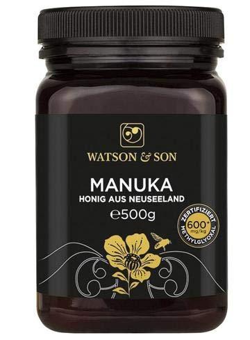 Watson & Son miele di manuka MGO 600+ 500g | Qualità Premium certificata dalla Nuova Zelanda | puro e naturale
