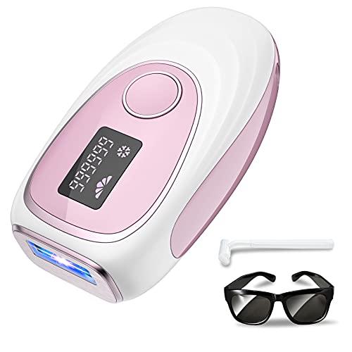 Epilatore Luce Pulsata Laser Peli Donna Con 999,999 Impulsi di Luce e Tecnologia del Punto di Congelamento Perfetto Per Donna e Uomo Usa Domestico per Ascella Facciale Bikiniline Gamba Schiena Corpo