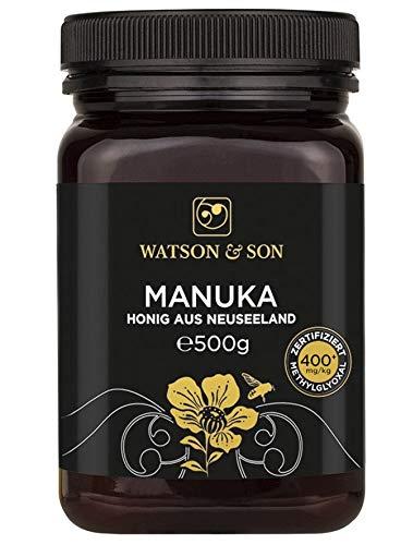 Watson & Son miele di manuka MGO 400+ 500g | Qualità Premium certificata dalla Nuova Zelanda | puro e naturale