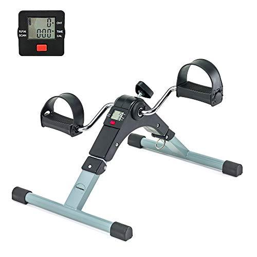Cyclette da Casa per Allenamento di Gambe e Braccia, Pedaliera Cyclette Fitness, Pedaliera Regolabile Digitale, Pedale con LCD Display