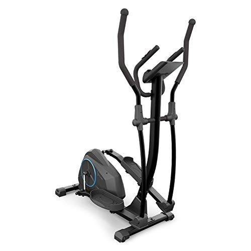 KLAR FIT Capital Sports Helix Air - Crosstrainer, Volano 12 kg, 24 Livelli, Cardiofrequenzimetro, Supporto per Tablet, App Kinomap, Max. 120 kg, Nero