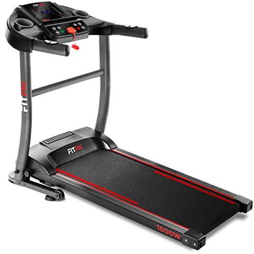 FITFIU Fitness MC-200 Tapis Roulant Pieghevole con Velocità Fino A 14Km/H, Superficie di Scorrimento 40X110Cm, Motore 1500W, Schermo Lcd, Cardiofrequenzimetro e Sistema di Arresto di Emergenza