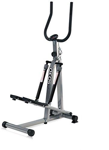 JK Fitness 5030 Stepper Richiudibile, 75 x 41,5 x 131 cm, Argento/Nero