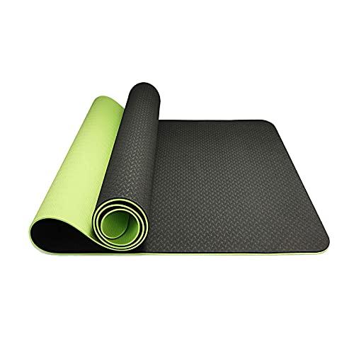 Hatonky Tappetino da Yoga, Tappetino Palestra Fitness 100% Ecologico TPE Double-Sided Antiscivolo Yoga Mats 183cmx63cmx0.6cm