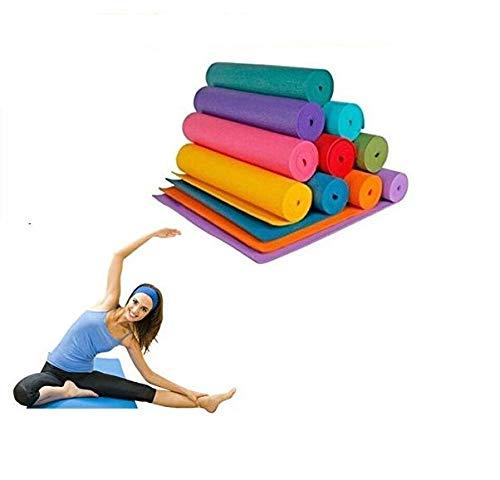 Tappetino yoga 4 MM 173X61 Vari Colori Fitness Sport Palestra Aerobica Pilates Ginnastica MATERASSINO STUOIA Antiscivolo (Blu)