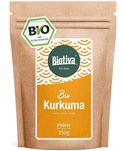 Curcuma in polvere Bio - 250g - radice di curcuma preziosa - curcumin - busta richiudibile - confezionato in Germania (DE-eco-005)