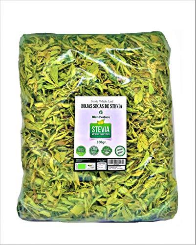 Foglie di Stevia 100% Pure Naturali - Biologiche Selezionate di Qualità Premium 500g