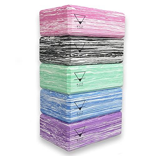 BASE YOGA - Blocchi yoga, set da 1/2 pezzi, mattoncino yoga in schiuma EVA leggera ( viola )