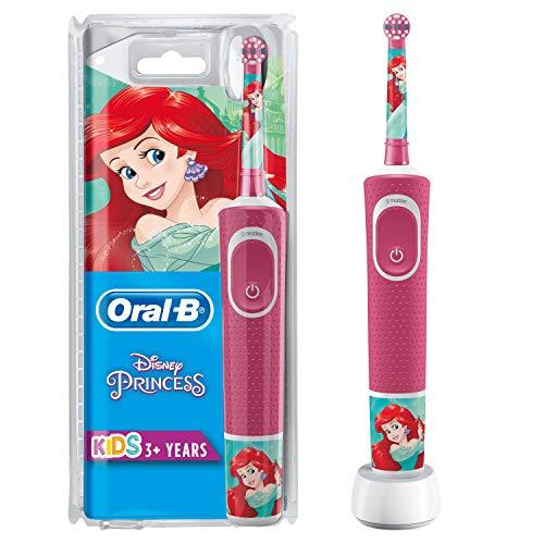 Oral-B Kids Spazzolino Elettrico Ricaricabile, 1 Manico con Personaggi Disney Principesse, per Età da 3 Anni
