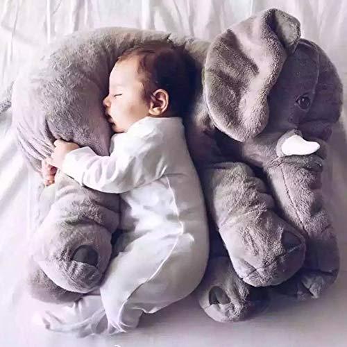 Cuscino elefante per bambini Giocattolo per animali di peluche Cuscino per letto per bambini per donne incinte Cuscino per bambini Cuscino per neonato Elefante per dormire 60 cm