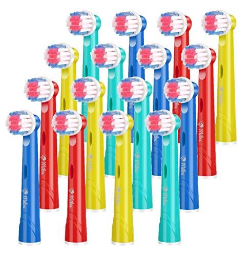 Milos Testine per Spazzolino Elettrico per Bambini/Confezione da 16 Testine per Spazzolino Oral B Compatibili/Testine per Spazzolino Compatibili per Bambini