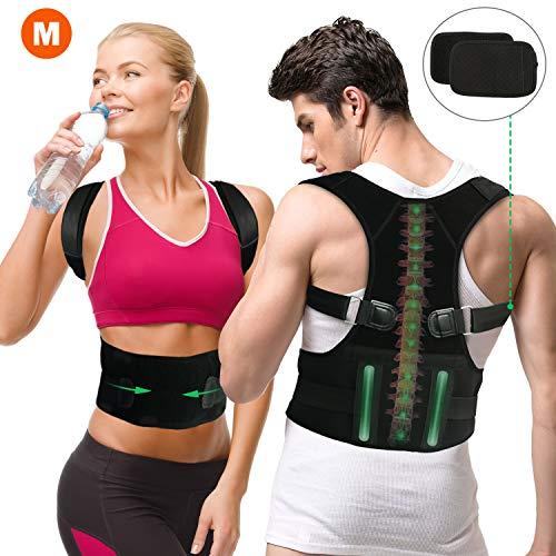 Gifort Correttore di Postura, Postura Schiena, Schiena Supporto per schiena, Collo e Spalle, Traspirante Regolabile Postura Supporto (Style 1-M) (M Size)