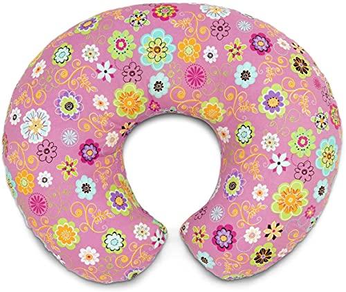 Boppy Cuscino Allattamento per Neonati 0+ Mesi, Forma Ergonomica con Inserto Miracle Middle - Cuscino e Nido Neonato per Allattamento al Seno e col Biberon, Wild Flowers