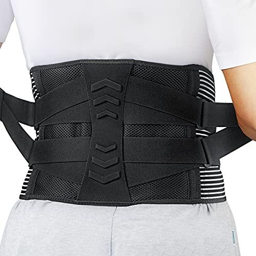 AGPTEK Fascia Lombare Posturale, Cintura Lombare Elastica di Sostegno, per Medicale e Sport, Fascia Schiena Donna Uomo, Cintura Elastica Terapeutica a Dolore Lombare, Sciatica (L: 96 - 115CM)