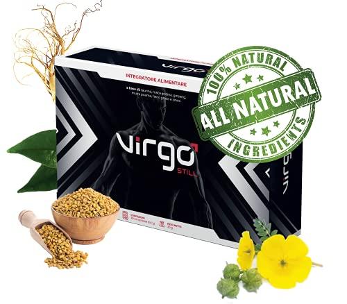 VirgoStill Integratore Sessuale Naturale per Erezione - Azione Istantanea - 1200mg a Base di Taurina e Vitamine - 30 Pillole