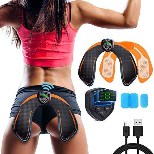 Glutei Elettrostimolatore Muscolare Elettronico Natica Trainer,EMS Glutei Allenatore con USB Ricaricabile, Glutei Allenatore Intelligenti per l'anca Donna Intelligent HipTrainer