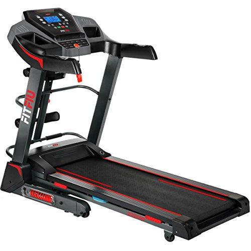 FITFIU Fitness MC-500 - Tapis roulant pieghevole con pendenza automatica, velocità 18km/h, cardiofrequenzimetro, potenza 2200w, tapis roulant con superficie di corsa 41x123cm, peso massimo 120kg