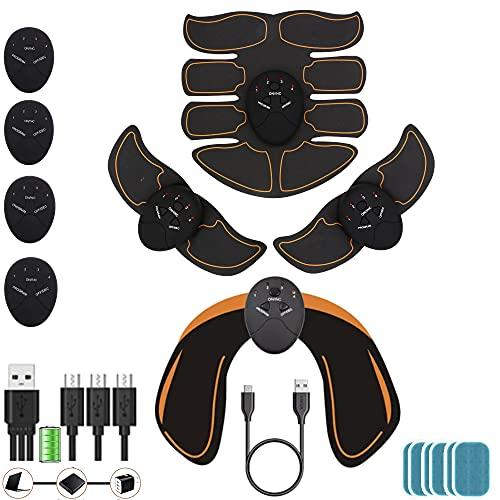 kames skoss prestige - elettrostimolatore Pancia, Trainer con Cintura di elettrostimolazione, elettrostimolatore per Addominali, Massaggio,Dispositivo per Glutei (USB)