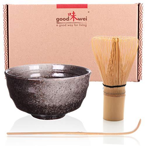 Goodwei Set di Tè Matcha Giapponese (Nero)