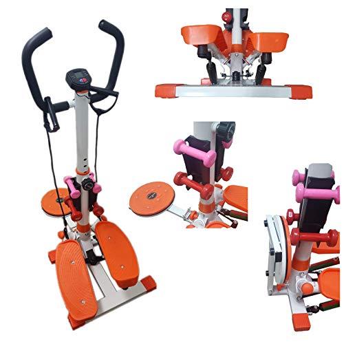 FFitness Stepper Twister Ffitnes, Strumento Professionale Multifunzione per l'home Fitness Unisex Adulto, Bianco, Medium