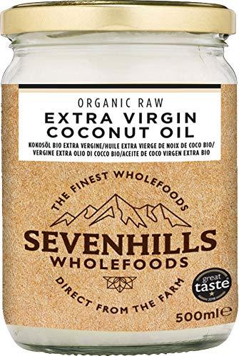 Sevenhills Wholefoods Crudo Vergine Extra Olio Di Cocco Bio, Spremuto A Freddo 500ml