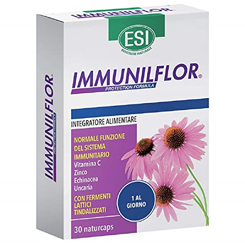 ESI Immunilflor - Integratore alimentare a base di echinacea, uncaria, zinco e vitamina C, 30 Capsule