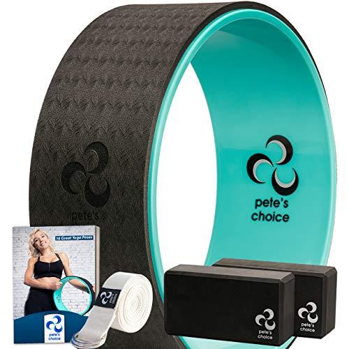 Kit Yoga per Principianti – Kit Yoga Wheel + 2 Yoga Blocks, con eBook e Cinghia Yoga Inclusi | Accessori Yoga per Principianti |Il Regalo Yoga Perfetto