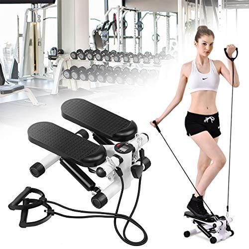 Youwise Swing Stepper con Fitness Sport Mini Side Twister Computer Expander Cyclette, Attrezzatura per Il Fitness Domestico Stepper Up-Down