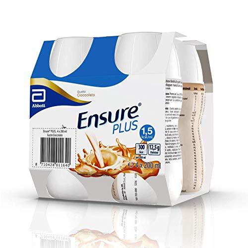 Ensure Plus Supplemento Nutrizionale Formato Bevanda | Confezione 4x200ml | Gusto Cioccolato