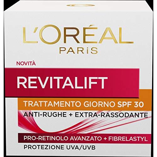 L'Oréal Paris Crema Viso Giorno Revitalift, Azione Antirughe con Pro-Retinolo Avanzato, Protezione Solare SPF 30, 50 ml