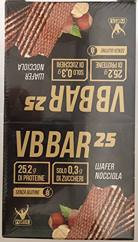 VB BAR 25 BOX DA 24 BARRETTE DA 50 g-NET INTEGRATORI (WAFER NOCCIOLA)