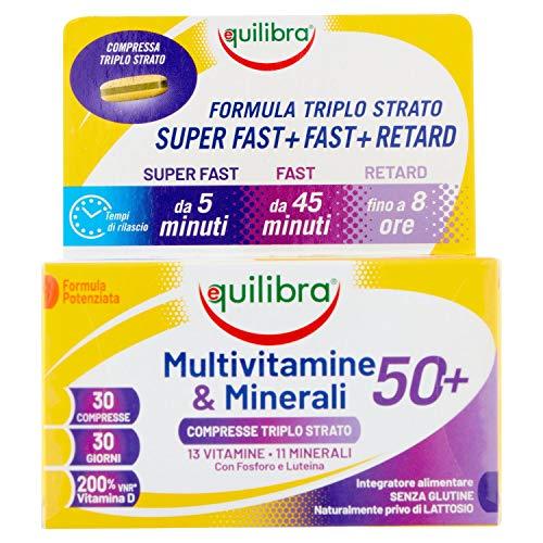 Equilibra Multivitamine e Minerali 50+, 30 Compresse Triplo Strato