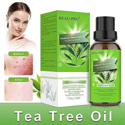 Tea Tree Oil, Olio Tea Tree Puro 100%, Naturale Olio Essenziale Tea Tree per Alleviare Imperfezioni della Pelle con Acne, Brufoli, Olio di Albero del Tè per Diffusori, Massaggio-30ml