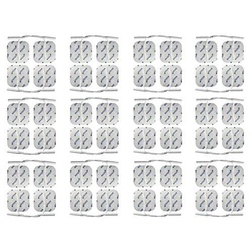 axion - Set di 48 elettrodi 4x4 cm in formato Risparmio con cavetti da 2mm