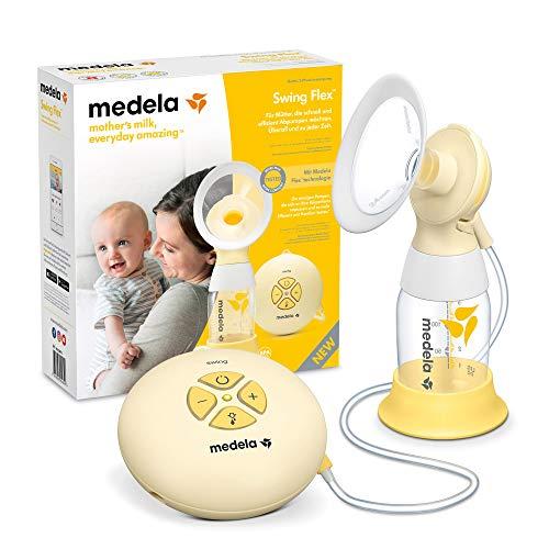 Medela Swing Flex Tiralatte Elettrico Singolo, Design Compatto e Portatile, con Coppe PersonalFit Flex e Tecnologia Medela 2-Phase Expression
