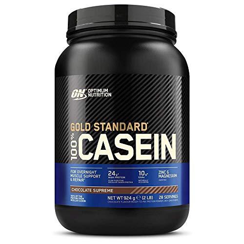 Optimum Nutrition 100% Gold Standard Casein, Proteine di Caseina a Lento Rilascio con Glutammina, Aminoacidi, Zinco e Magnesio, Supreme Cioccolato, 28 Porzioni, 0.9 kg, il Packaging Potrebbe Variare