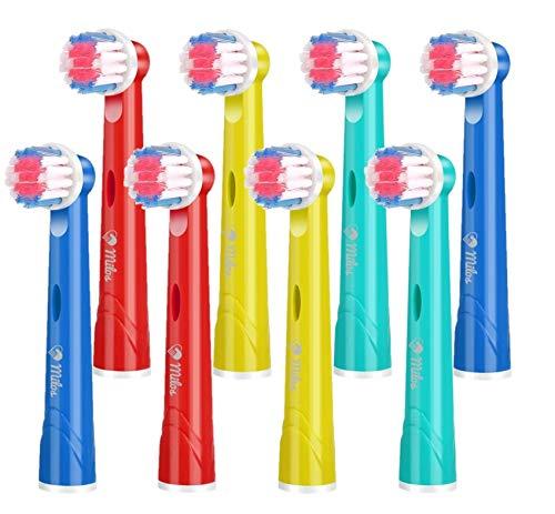 Milos Testine per Spazzolino Elettrico per Bambini/Confezione da 8 Testine per Spazzolino Oral B Compatibili/Testine per Spazzolino Compatibili per Bambini