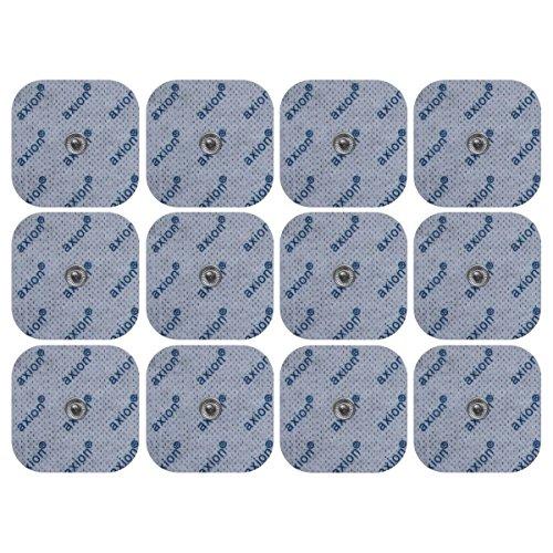 12 elettrodi pads 5x5 cm compatibili con dispositivi SANITAS & BEURER elettrostimolatori TENS e EMS - qualità axion