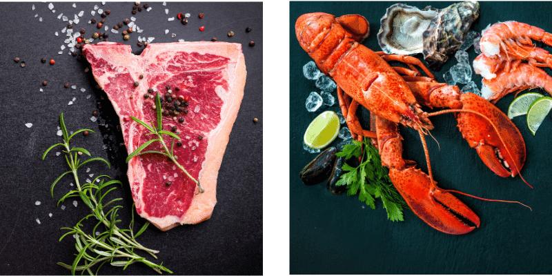 alimenti che contengono ferro: carne e crostacei