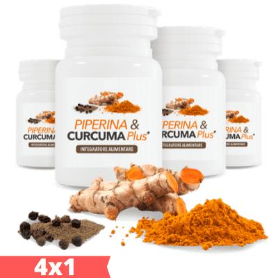 Piperina & Curcuma Plus - Compresse dimagranti - 4x1