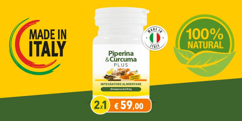 Piperina e Curcuma Plus con Zenzero e Limone opinioni