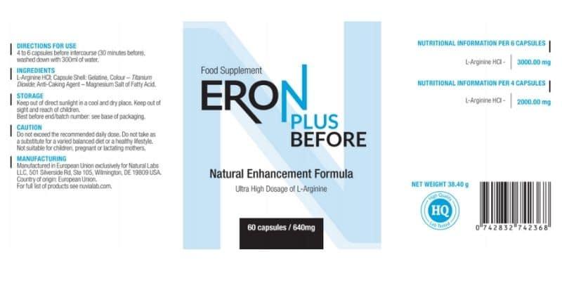 Eron Plus before composizione e valori nutrizionali