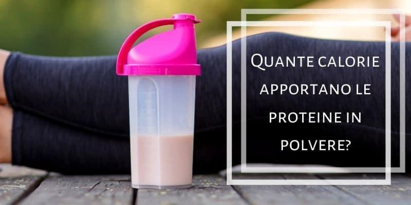 calorie proteine in polvere
