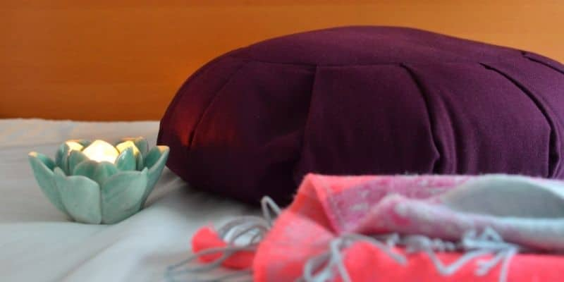 cuscino per yoga