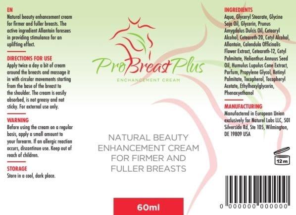 pro breast plus inci