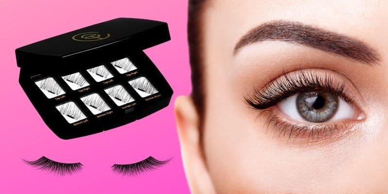 black eyelashes con applicatore
